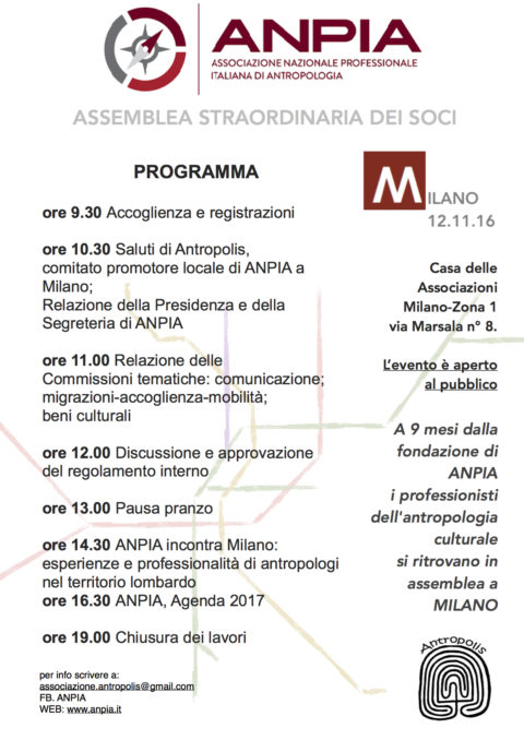 Album Video Tavola Rotonda  Assemblea ANPIA Milano, novembre 2016