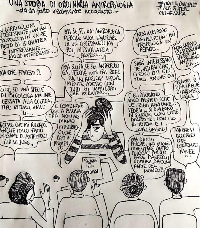 Vignetta illustrata storie di ordinaria antropologia #nondidinosauri