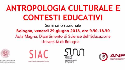 Antropologia Culturale e contesti educativi, Bologna 29 Giugno