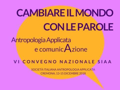 Tutte le informazioni per il VI Convegno SIAA 2018 di Cremona