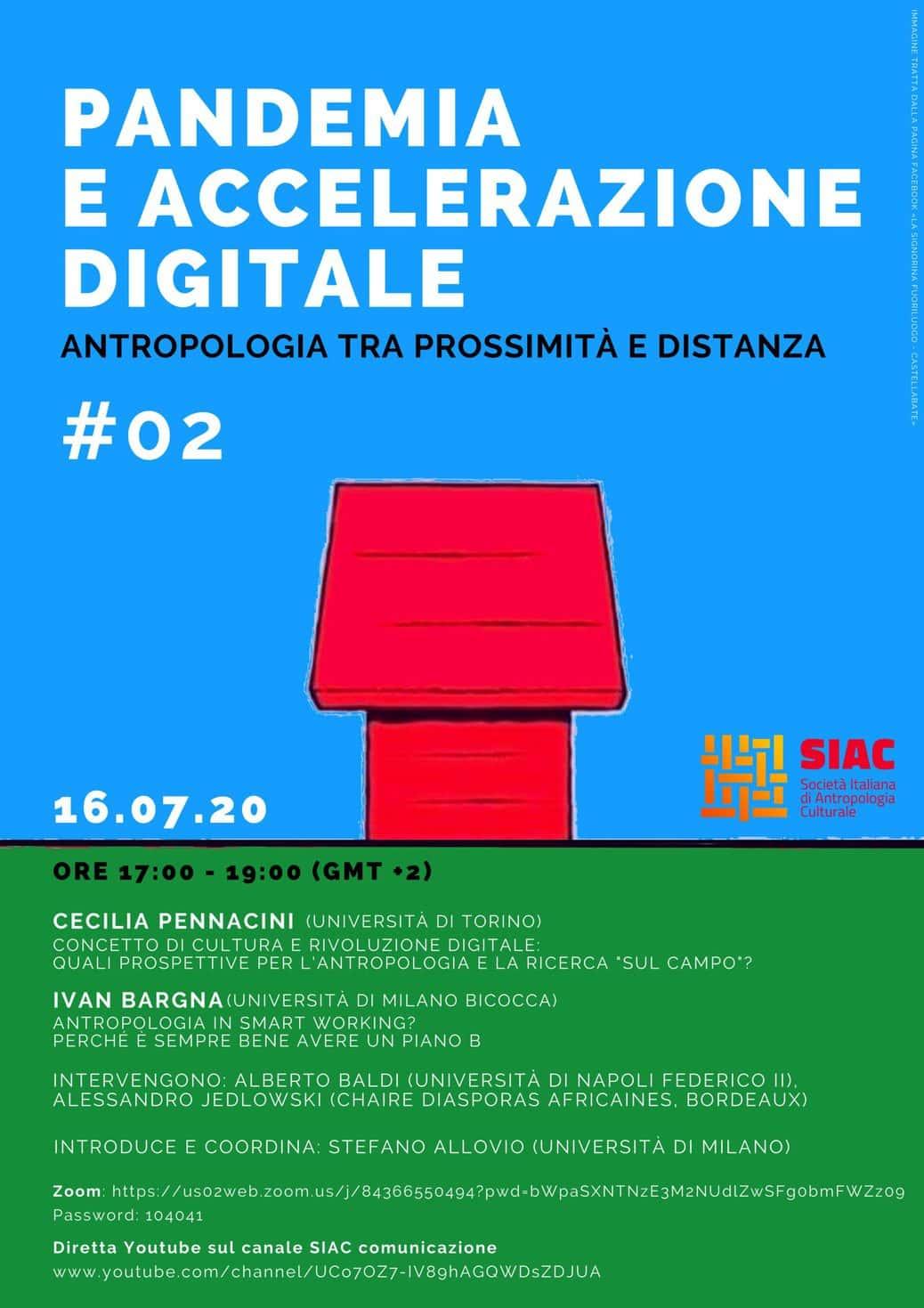 Pandemia e accelerazione digitale - Antropologia fra prossimità e distanza